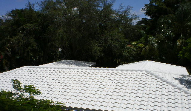 Concrete tile roof in Miami,Fl with Boral TileSeal by Roofer Mike Inc, roofers in Miami